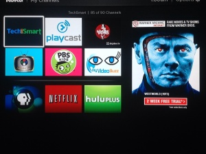Roku has a huge selection of channels.