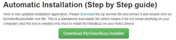 My Video Buzz Installer Button