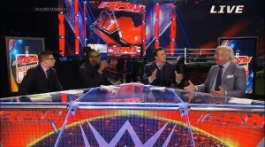 Rick Flair and panel Discus Monday Night Raw