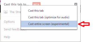 Chrome Cast Full Scree (experimental