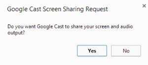 Chrome Full Screen Permision Box